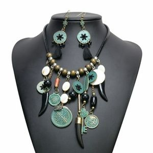 Classic Coin Multi Element Necklace Set