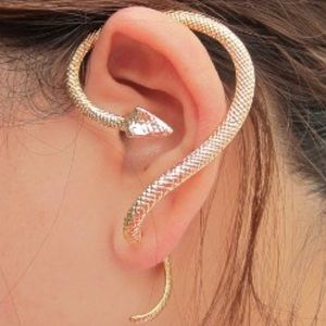 Gold Snake Earcuff
