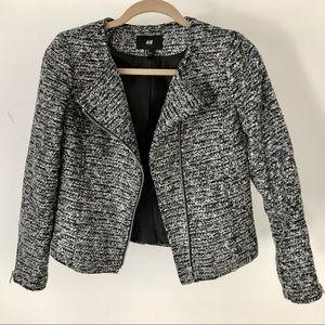 H&M Moto Tweed Jacket. Size 6