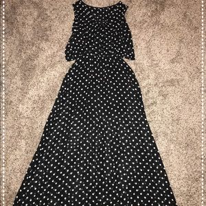 Polls Dot Maxi Dress