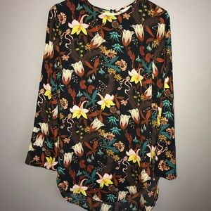 H&M Fall Floral Blouse