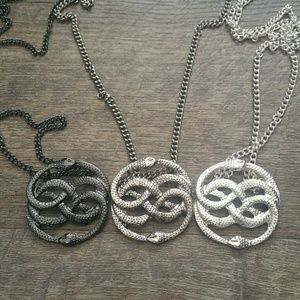 Ouroboros pendant necklace