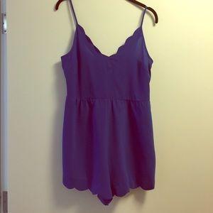 Dresses & Skirts - Blue scalloped romper