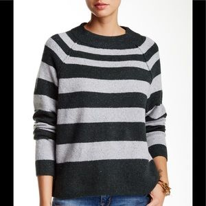 NWT Free People Striped Cropped Sweater