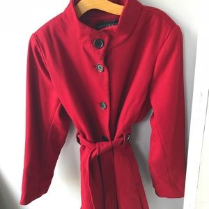 Jackets & Blazers - Pretty Red Coat Excellent Condition X-L