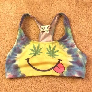 BRAND NEW Wildfox Smiley Cropped Top