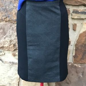Nicole Miller Color Block Pencil Skirt
