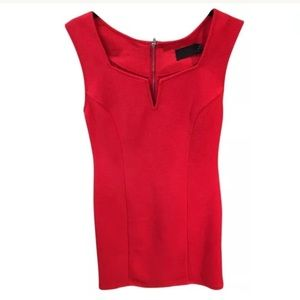 Minkpink fitted red stress