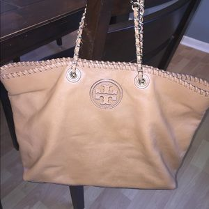 Tory Burch Marion east west tote camel brown