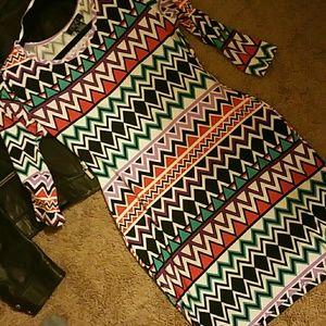 NWOT DEB Stretch Form Fitting Curvy Boho Dress