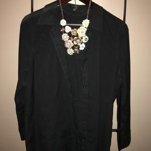 Limited black button down