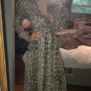 Michael Kors Cheetah print Maxi dress