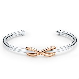 Tiffany & Co. Rose Gold Sterling Infinity Cuff