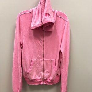 WILDFOX Malibu Hoodie Pink Oversized