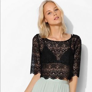 TELA Urban Outfitters Lace Crop Top