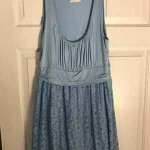 ModCloth Light Blue Dress with Lace Detail