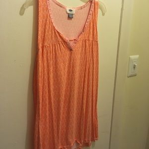 Cool Old Navy top!  Coral and white.