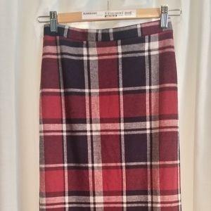 Forever 21 Plaid Pencil Skirt