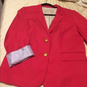 Banana Republic size 12 red blazer New without tag