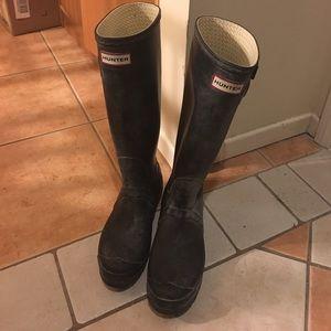 Hunter rain boots size 7