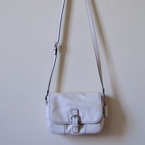 White Leather Cross Body Coach