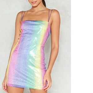 Show your true colors nasty gal sequin mini dress