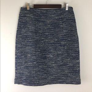 Banana Republic Navy Tweed Skirt