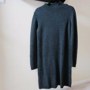 Banana Republic sweater dress charcoal gray size M