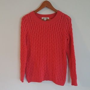 Forever 21 cable knit coral sweater size M