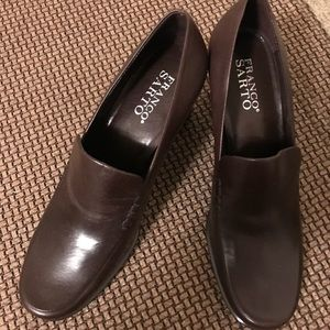 Brown Franco Sarto leather shoes