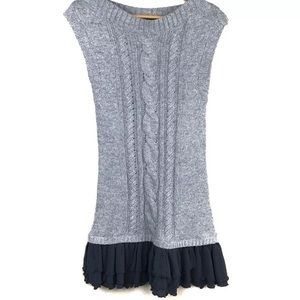 Anthropologie Moth Grey Sweater Dress