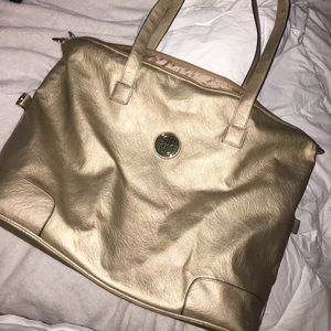 Gold Overnight Bag