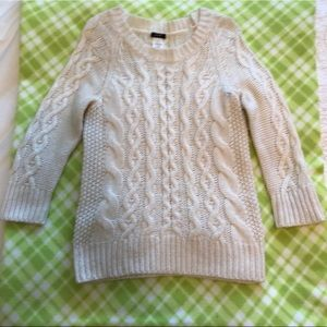 J. Crew Cream Cable Knit Sweater