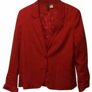 Tuxedo style blazer in Christmas red! H&M