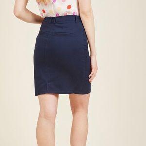 Modcloth plus size navy pencil skirt