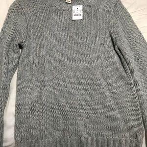 J crew brand new heather grey sweater!