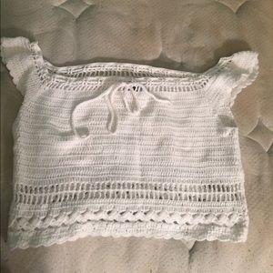 Lightly worn, white crop top