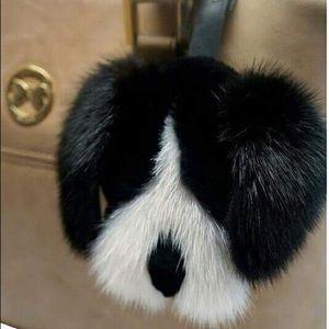 Dog Keychain bag charm made by mink