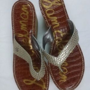 Sam Edelman womens size 8.5 wedge sandal