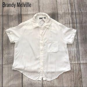 Brandy Melville White Button Down Shirt