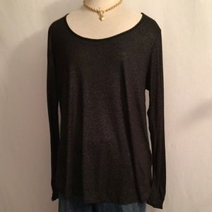 Forever21 Plus Size Sheer Sparkly Black Top