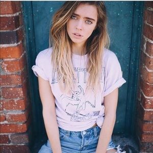 🎀 BRANDY MELVILLE LED ZEPPELIN PINK GRAPHIC TEE