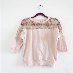 Blush Floral Sweater