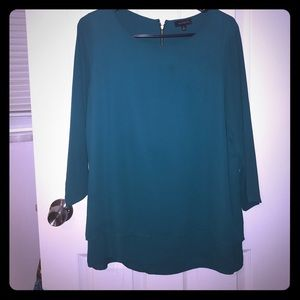 The Limited teal blouse, medium