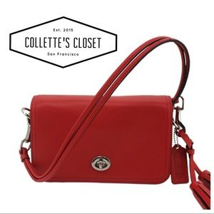 Coach Penny Legacy Collection in deep red