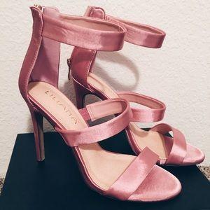 Dusty Pink Silky High Heels