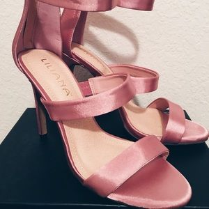 Liliana Shoes - Dusty Pink Silky High Heels