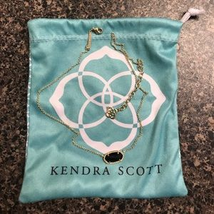 Kendra Scott Elisa necklace in gold and black