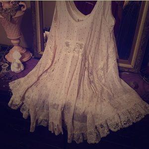 Free People She Swings lace slip mini dress
