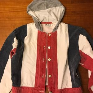 Rad retro VINTAGE denim striped jacket